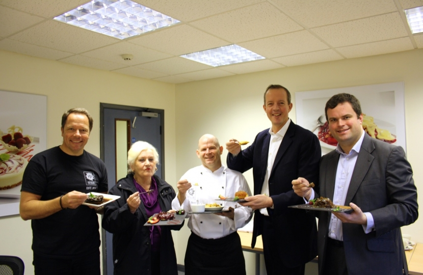 Nick Boles tries the 1,000,001st pudding.